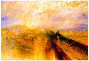 Joseph Mallord Turner Rain Steam and Speed the Great Western Railway Art Print Poster