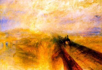 Joseph Mallord Turner Rain Steam and Speed the Great Western Railway Art Print Poster