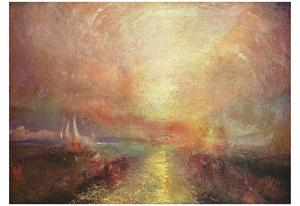 Joseph Mallord William Turner (A yacht approaching the Arts) Art Poster Print