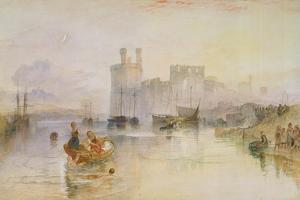 Caernarvon Castle, c.1833 by Joseph Mallord William Turner