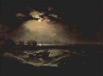 Joseph Mallord William Turner (Fishermen on the sea) Art Poster Print