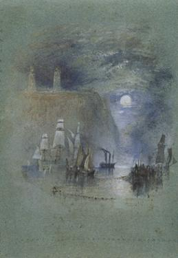 from Turner's Annual Tour: The Seine 1834 Watercolours, Light-Towers of la Hève (Vignette) by Joseph Mallord William Turner