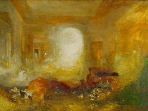 Interior at Petworth, Lord Egremonts country house by Joseph Mallord William Turner