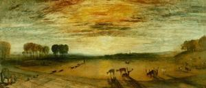 Petworth park, with Tillington church in the distance by Joseph Mallord William Turner