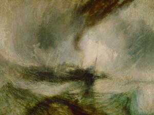 Snow storm. A steam boat off a harbours mouth by Joseph Mallord William Turner