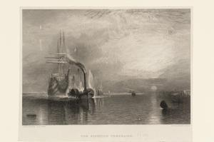 The Fighting Téméraire, engraved by Willmore by Joseph Mallord William Turner