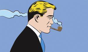Businessman Smoking Pipe by Joseph Mcdermott
