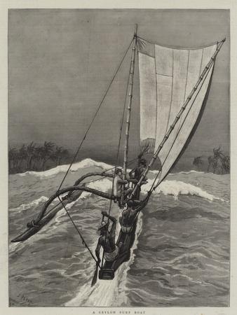 A Ceylon Surf Boat