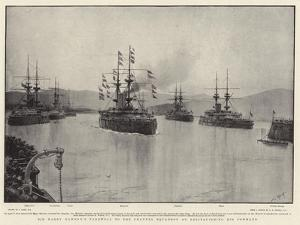 Sir Harry Rawson's Farewell to the Channel Squadron on Relinquishing His Command by Joseph Nash