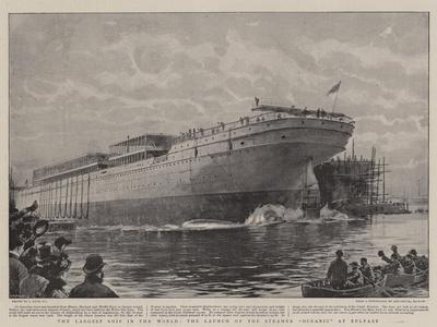 The Largest Ship in the World, the Launch of the Steamer Oceanic at Belfast