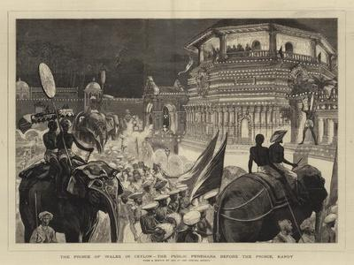 The Prince of Wales in Ceylon, the Public Perehara before the Prince, Kandy