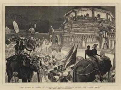 The Prince of Wales in Ceylon, the Public Perehara before the Prince, Kandy by Joseph Nash
