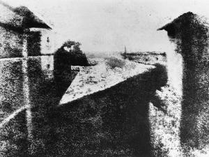 View from a Window at Le Gras, Saint-Loup-De-Varennes, 1827 by Joseph Nicephore Niepce