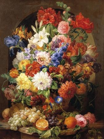 Composition of Flowers, 1839 by Joseph Nigg