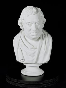 Samuel Johnson (1709-84) 1777 (Plaster) by Joseph Nollekens