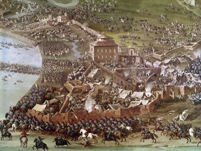 Battle of Turin, 1706. Painting by Joseph Parrocel (1646-1704)