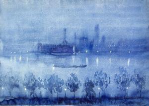 Blue Night, London by Joseph Pennell