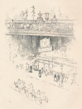'Corner of Villiers Street, Charing Cross', 1896 by Joseph Pennell