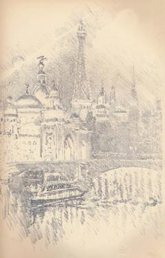 'Early Evening Effect, Paris Exhibition', 1901 by Joseph Pennell