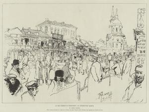 In the Streets of Berdicheff, an Interrupted Sketch by Joseph Pennell