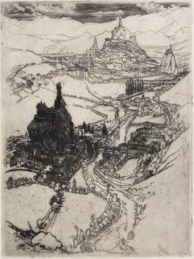 Le Puy, Third Plate, 1894 by Joseph Pennell