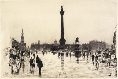Nelson Monument, Trafalgar Square, London, 1887 by Joseph Pennell