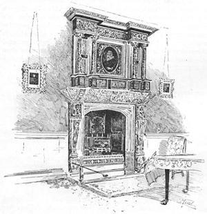 'Old Charterhouse: Mantelpiece in the Master's Lodge', 1886 by Joseph Pennell