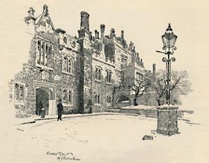 'Old Charterhouse: The Master's Court', 1886 by Joseph Pennell