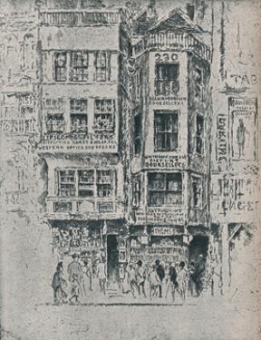 Old Strand Shops, c1900, (1906-7) by Joseph Pennell