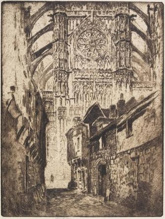 Rose Window, Beauvais, 1907 by Joseph Pennell