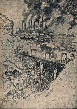 'Steel-Edgar Thomson Works', 1909 by Joseph Pennell