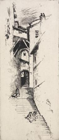 Street of Stairs, Siena, 1883 by Joseph Pennell