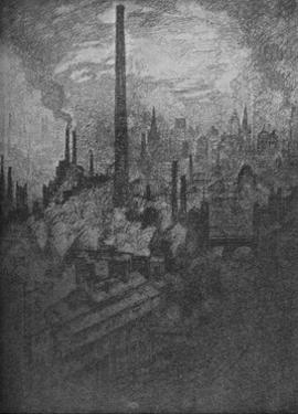 'The Great Chimney, Sheffield', 1910 by Joseph Pennell