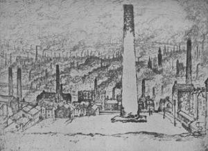 'The Great Stack, Bradford', 1909 by Joseph Pennell