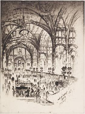 The Hall of Iron, Pennsylvania Station, New York, 1919 by Joseph Pennell