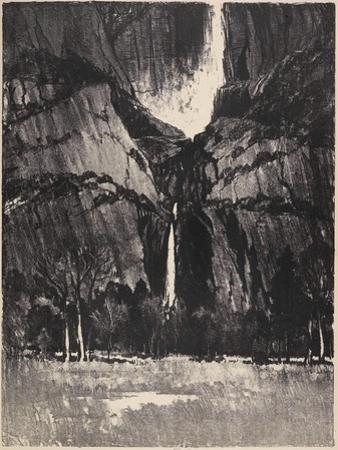 The Lower Falls, Yosemite, 1912 by Joseph Pennell