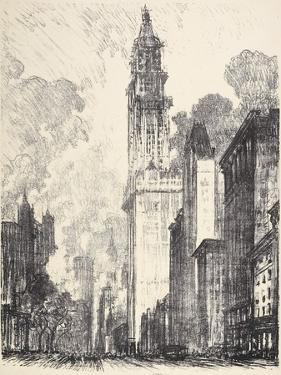 The Woolworth Building, 1912 by Joseph Pennell