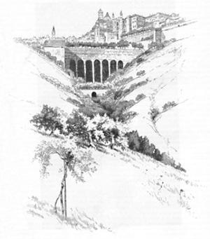 'Urbino', 1886 by Joseph Pennell