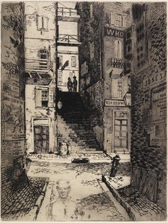 Water Street Stairs, Looking Up, 1881 by Joseph Pennell