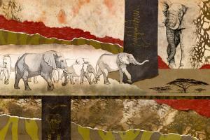 Serengeti Elephants by Joseph Poirier