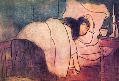 Joseph Rippl-Ronai Lady in Bed Art Print Poster