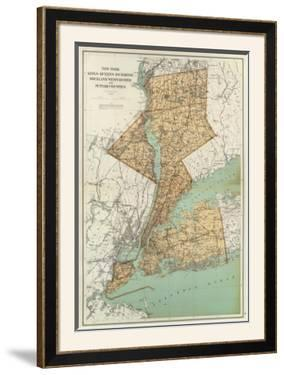New York: Kings, Queens, Richmond, Rockland, Westchester, Putnam Counties, c.1895 by Joseph Rudolf Bien