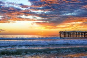 Fire Over Crystal Pier by Joseph S Giacalone