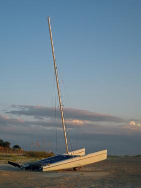 Catamaran on Beach by Joseph Shields