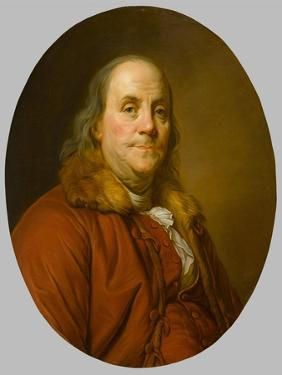 Benjamin Franklin , c.1779 by Joseph Siffred Duplessis