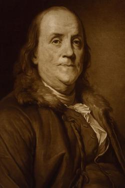 Benjamin Franklin in Fur Collar by Joseph-Siffrede Duplessis