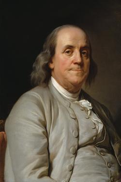 Portrait Benjamin Franklin by Joseph-Siffrede Duplessis