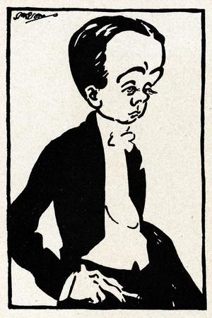 Max Beerbohm caricature by