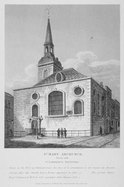 Church of St Mary Abchurch, City of London, 1812 by Joseph Skelton