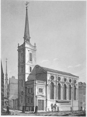 Church of St Michael, Queenhithe, City of London, 1812 by Joseph Skelton